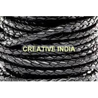 Round Bolo Braided Leather Cord (4.0mm)