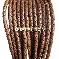 Round Bolo Braided Leather Cord (5.0mm)