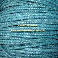 Round Bolo Braided Leather Cord (6.0mm)