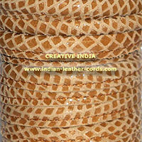 Stitched Round Nappa Leather Cord 01