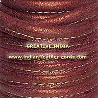 Stitched Round Nappa Leather Cord 03