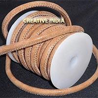 Stitched Round Nappa Leather Cord (C011)