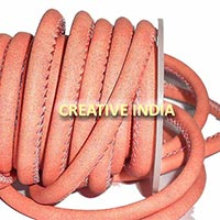 Stitched Round Nappa Leather Cord (C038)
