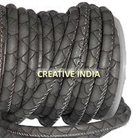Stitched Round Nappa Leather Cord (C046)