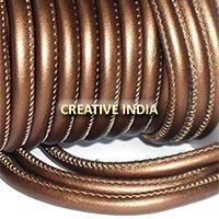 Stitched Round Nappa Leather Cord (C050)