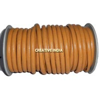 Yellow Semi Round Leather Cord