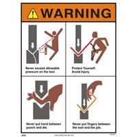 Press Machines Safety Signs