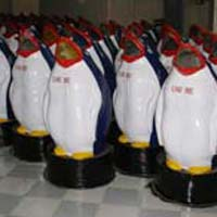FRP Animal Shaped Dustbins=>Penguin Dustbin