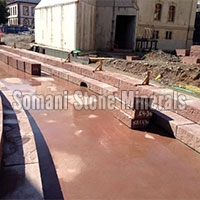 Mandana Red Blocks Canal Block Steps