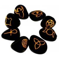 Wiccan Pagan symbol stones