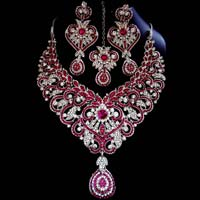 Rhodium Jewellery Set