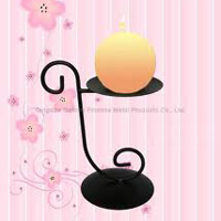 Exotic Type Wrought Iron Candle Stand