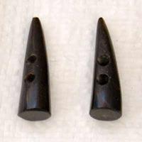 Buffalo Horn Button 11
