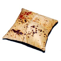 Acid Rain Wash Hair-On Hide Cushion (Tan)