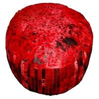 Acid Wash Pouf (Red)