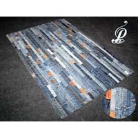 David Belts Denim Recycled Rug (Blue)