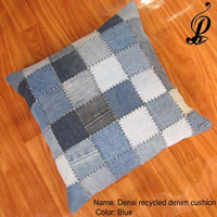 Densi Recycled Denim Cushion (Blue)