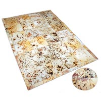 Rain Acid Wash Hair-On Hide Carpet (Tan)