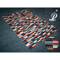 Stripes Hair-on Hide Carpet (Multi)