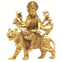 Brass Durga Statue 01