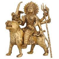 Brass Durga Statue 03