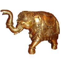 Brass Elephant Statue 01