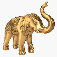 Brass Elephant Statue 02