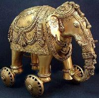 Brass Elephant Statue 03