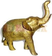 Brass Elephant Statue 04