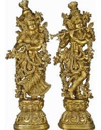 Brass Radha Krishna Statue 02