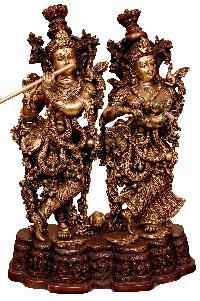 Brass Radha Krishna Statue 03