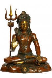Brass Shiva Statue 04