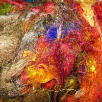 Recycled Silk Fibers 03