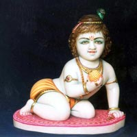 Marble Ladoo Gopal Statues