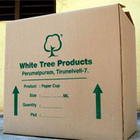 Slotted Carton With Single Color Printings