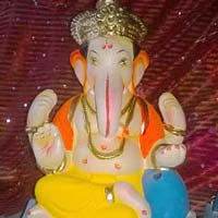 Colored Clay Ganesh Statues 01