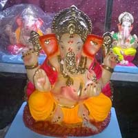 Colored Clay Ganesh Statues 10