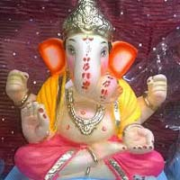 Colored Clay Ganesh Statues 11