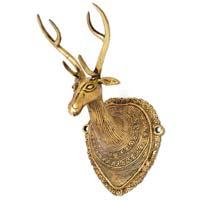 Brass Deer Head Wall Hangings