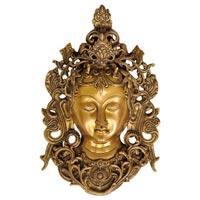 Brass Tara Devi Face Wall Hangings