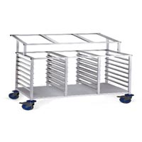 Stainless Steel Rack Trolley with Cutlery Stand