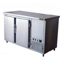 Stainless Steel Double Under Counter Refrigerator (2DRT-IT14)