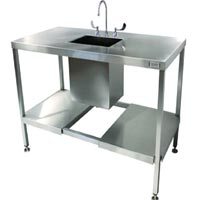 Stainless Steel Sink Lab Split Undershelf