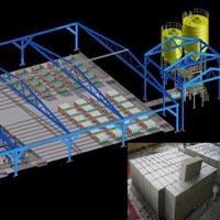 Fully Automatic CLC Brick Making Plant