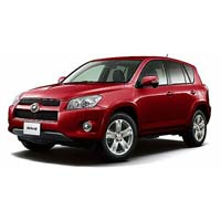 Red Toyota RAV4 RHD Car
