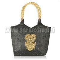 Beaded Handle Handbags