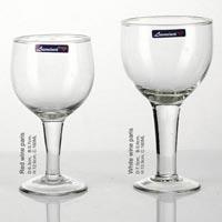3 Pieces Glass Plain Wine Tumbler