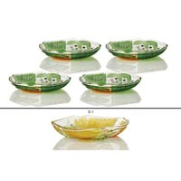 4 Piece Glass Snack Plate Set