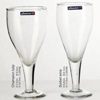 4 Pieces Glass Plain Wine Tumbler