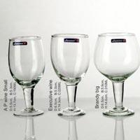 6 Pieces Glass Plain Wine Tumbler
